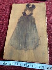 More details for portrait painting/sketch/print?  - elegant lady unsigned - style of paul helleu