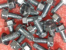 "50 PCS #12-24 X 1/2"" SELF TAPPING THREAD CUTTING HEX WASHER HEAD BOLT SCREW ZINC"