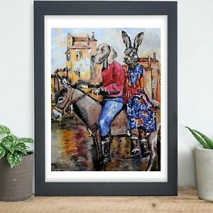 GILLIE AND MARC | Direct from Artists | Ltd Ed Print | Donkey | Dog Rabbit