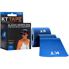 """KT Tape Cotton 10"""" Precut Kinesiology Therapeutic Sports Roll, 20 Strips, Blue"""