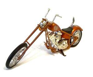CUSTOM CHOPPER in Copper - 1:12 Die-Cast & Plastic Motorbike Model NewRay - New