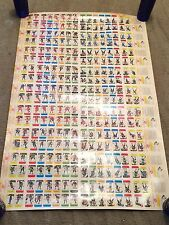 1982-83 Post Cereal Un Cut Hockey Sheet