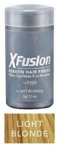 XFusion Keratin Hair Fibers Light Blonde 15 gm 0.53 oz - FAST Shipping