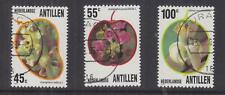 NETHERLANDS ANTILLES, 1983 Flowers set of 3, used.
