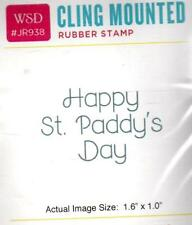 NEW WHIPPER SNAPPER cling Rubber Stamp Happy St. Patrick's Day free usa ship