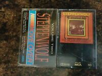 STEPPENWOLF 16 GREATEST HITS MOVE OVER VOLUME TWO RARE CASSETTE TAPE LOT OF 2