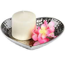 Stunning Silver Ceramic Dimple Effect Small Heart dish