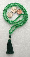 Green Jade 6mm 108+1 Handmade Karma Mala Beads Necklace - Energized
