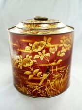 "VINTAGE PARKINSONS/DONCASTER AESTHETIC STYLE BIRDS/FLORAL 8"" TOFFEE OR CANDY TIN"
