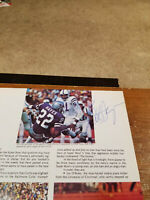 1970's BOB HAYES, MIKE CURTIS, EARL MORRALL SIGNED FOOTBALL MAGAZINE PAGE 8X11