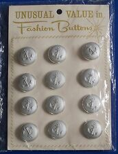 12 Vintage Anchor Buttons Original Packing Unusual Value in Fashion Buttons