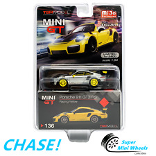 CHASE ! Mini GT 1:64 Porsche 911 GT2 RS (Racing Yellow) #136