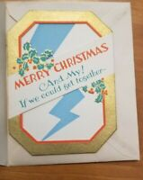 Vintage Christmas Cards Blue Streak Unused set of 2
