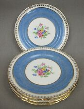 "Superb set of 6 x vintage blue Royal Grafton bone china Tea / Cake Plates. 6.25"""