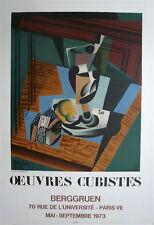 Joan GRIS Affiche Lithographie Mourlot Berggruen cubisme art abstrait abstractio
