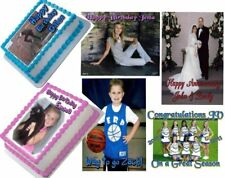 EDIBLE PHOTO CAKE TOPPER PERSONAL CUSTOM ICING IMAGE SHEET BIRTHDAY PARTY & MORE