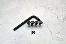 Anti-Theft *BLACK NICKEL* Security Screws for BMW REAR License Plate Frame