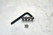 Anti-Theft *BLACK* Security Screws for BMW REAR License Plate Frame (4 pcs)