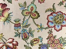 By 1/2 Yd Benartex Fabric ~ Left Bank Jacobean Floral in Blush ~ Michele D'Amore