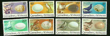 CARIBBEAN EXOTIC BIRDS & EGGS MINT NEVER HINGED STAMPS FROM ST. VINCENT  1979-80
