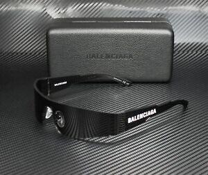 BALENCIAGA BB0041S 001 Rectangular Square Grey Grey 99 mm Unisex Sunglasses