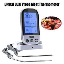 Smoker BBQ Grill Meat Thermometer For Kitchen Oven Food Cooking Alarm Timer Tool