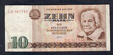 germania ddr 10 mark 1971 lotto 127