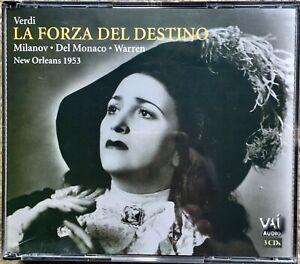 Verdi: La Forza Del Destino - Milanov/Del Monaco/Warren New Orleans 1953 CD - WB