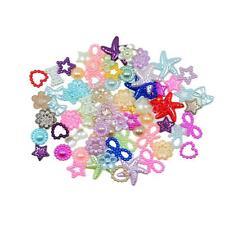 75pcs Colorful Flatback Pearl Embellishment for DIY Hair Bow Decoration