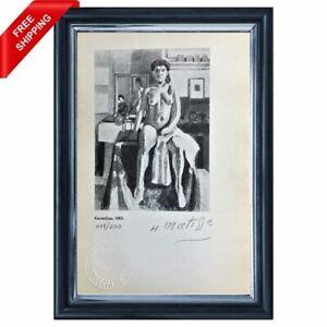 Henri Matisse - Carmelina, Original Hand Signed Print with COA