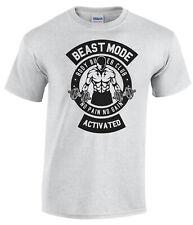 Beast Mode T-Shirt Body Builder Gym T-Shirt Keep Fit Licensed Design Weight Lift
