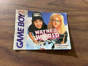 Wayne's World (Nintendo Game Boy) -- Authentic Instruction Manual Only --