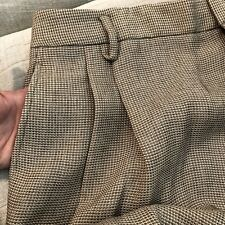 Rich Rayon Camel Tweed ELLEN TRACY Pleated Unlined Pants 16 NWT