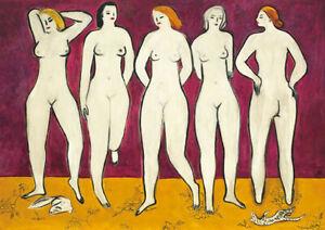 Sanyu : Five Nude : 1950 : Archival Quality Art Print