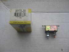 Cole Hersee 30172-20 Circuit Breaker, Type I w/ bracket, 24V, 20 amp, Nos