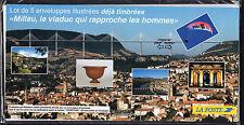 FRANCE FRANCIA 2004 Lot de Enveloppes illustrées Le Viaduc Milau NEUF