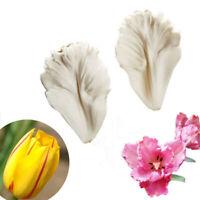 2Pcs Tulip Flower Petal Silicone Fondant Mold Baking Mould Cake Sugarcraft DIY
