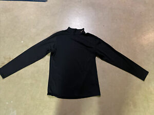 Nike Dri Fit Unisex Shirt Adult XL Mock Neck Black
