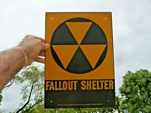 Fallout Shelter Sign ORIGINAL NOT A REPRODUCTION! From 1960 Fast USA Shipper!
