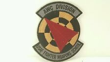 Fighter Weapons School Controller Division Patch Nellis AFB NV 3 3/4 x 3 1/2 inc