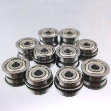 10 x F625zz Mini Metal Double Shielded  Flanged  Ball Bearings (5mm*16mm*5mm)