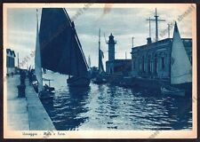 LUCCA VIAREGGIO 116 FARO - BARCHE A VELA Cartolina viaggiata 1938