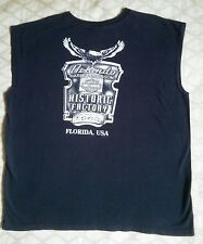 Florida HARLEY DAVIDSON 2X Black Muscle T-Shirt HISTORIC FACTORY 2002 / 2004