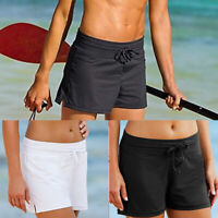 Women Relaxed Swim Shorts Tankini Bottom Bikini Sport Yoga Board Beach Swimwear