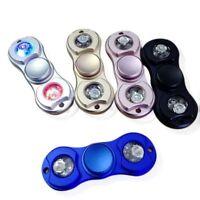 WHOLESALE LOT FIDGET SPINNER LED LIGHT HAND ALUMINUM METAL R188 STOCKING STUFFER