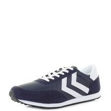 Hummel Slimmer Stadil Gris Rojo Azul Lona Hombre Baja Zapatillas Zapatos Botas
