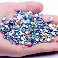 Crystal AB Non Hotfix Rhinestone Glass Stones Strass 3D Nail Art DIY Decoration