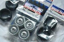TAMIYA 1/10 RC CAR TIRE(50568)+WHEEL(51362)+Inner SET for M-Chassis (RADIAL)