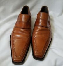 Dsquared2 Brown Leather Loafers - size 40 - made in Italy - EUC (Retail $620)