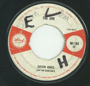 """"""" THE ARK. """" justin hinds & the dominoes. ISLAND RECORDS 7in 1964."""